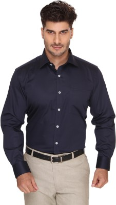 Blacksmith Men's Solid Formal Blue, Dark Blue Shirt