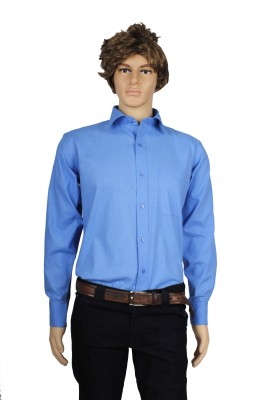 Eco-Solar Garments Men,s Solid Casual Light Blue Shirt