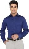 Greenfibre Men's Self Design Formal Blue...