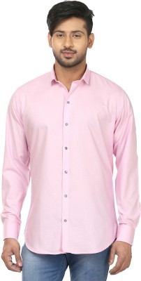 Louis Martin Men's Solid Casual, Formal Pink Shirt