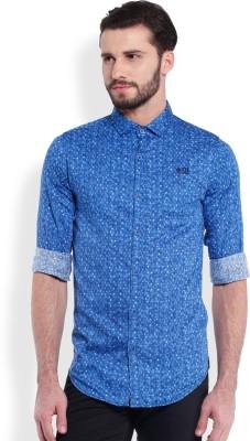 Skie Studio Men's Solid Casual Blue Shirt