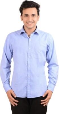 Badstreet Boys Men's Solid Formal Light Blue Shirt