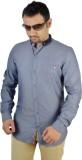 MTN Men's Solid Casual Blue Shirt