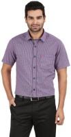 Classic Polo Formal Shirts (Men's) - Classic Polo Men's Checkered Formal Purple, Dark Blue Shirt