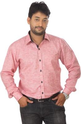 Modo Vivendi Men's Solid Casual Pink Shirt