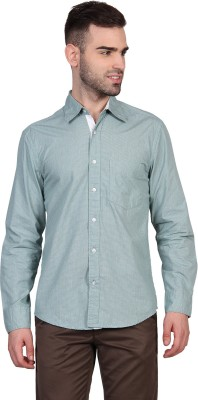 Urban Nomad By INMARK Men's Printed Casual Green Shirt