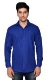 Vape Men's Solid Casual Blue Shirt