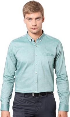 Van Heusen Men's Solid Formal Green Shirt