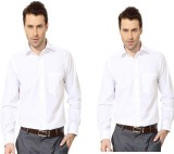 Try Me Men's Solid Formal White Shirt (P...