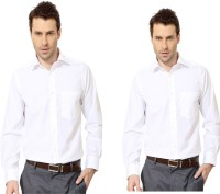 Try Me Formal Shirts (Men's) - Try Me Men's Solid Formal White Shirt(Pack of 2)