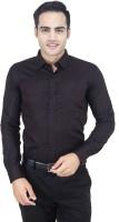 Euromens Formal Shirts (Men's) - Euromens Men's Solid Formal Black Shirt