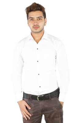 FTC Bazar Men's Solid Casual White Shirt