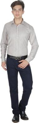 Shaurya-F Men's Printed Formal Grey Shirt