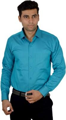 Studio Nexx Men's Striped, Solid Formal Blue Shirt