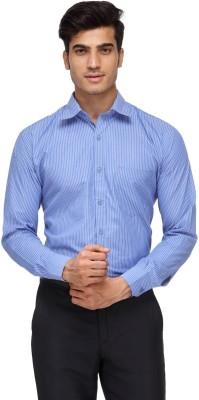 Rico Sordi Men's Striped Formal Blue Shirt
