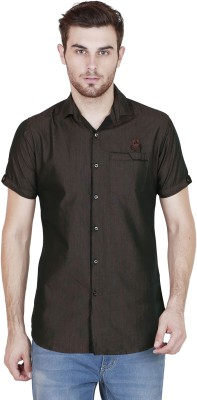 Alive Sport Men's Solid Casual Brown Shirt