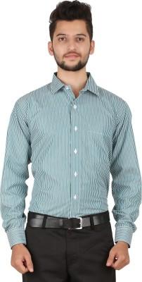 Stylo Shirt Men's Striped Casual Green Shirt
