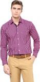 The Vanca Men's Checkered Formal Pink Sh...