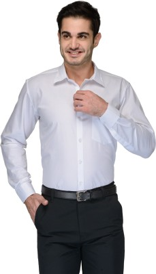 Being Fab Men's Solid Formal White Shirt