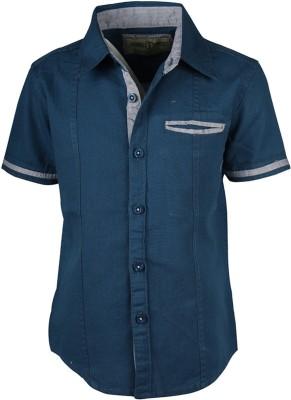Joshua Tree Boy's Solid Casual Blue Shirt