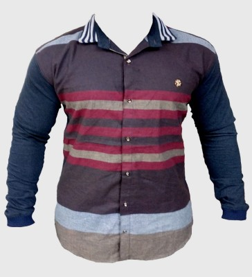 ZEDX Men's Printed Casual Multicolor Shirt