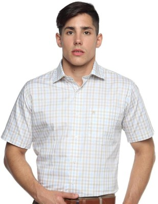 Balista Men,s Checkered Formal Brown Shirt