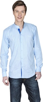 Poker Dreamz Men's Solid Casual Light Blue Shirt