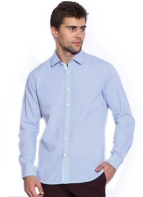 Zavlin Men,s Solid Casual Light Blue Shirt