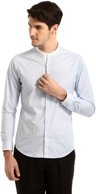 Yell Men's Solid Casual Blue Shirt