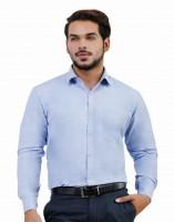 Lamode Formal Shirts (Men's) - LaMode Men's Solid Formal Blue Shirt