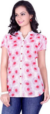 Go4it Women's Printed Party Red Shirt
