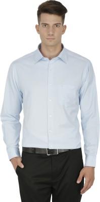 Kingswood Men's Self Design Formal Light Blue Shirt