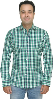 Kings Republic Men's Checkered Casual Green Shirt