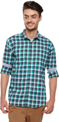British Club Men's Checkered Casual Multicolor Shirt