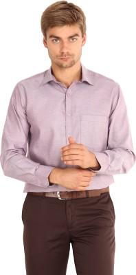 I-Voc Men's Woven Formal Maroon Shirt