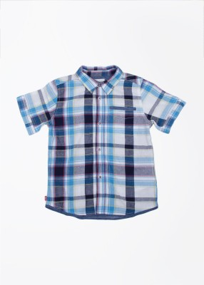 Levi's Boy's Checkered Casual Multicolor Shirt