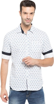 Status Quo Men,s Printed Casual White Shirt