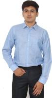 Kriss Formal Shirts (Men's) - Kriss Men's Solid Formal Linen Blue Shirt