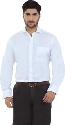 The Stiff Collar Men's Solid Formal White Shirt
