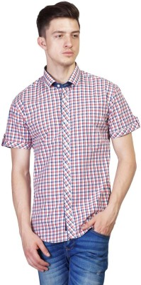 Seaboard Men's Checkered Casual Blue, Red Shirt