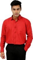 Rose Wear Formal Shirts (Men's) - Rose Wear Men's Solid Formal Red Shirt