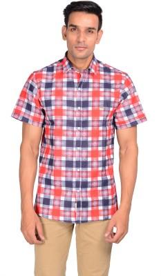 GARGI FASHIONS Men's Checkered Casual Red, Black Shirt