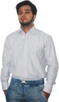 Zhentz Formal Shirts (Men's) - ZHENTZ Men's Striped Formal Grey Shirt