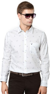 Allen Solly Men's Printed Casual White Shirt