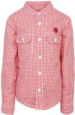 Silver Streak Boy's Checkered Casual Red Shirt