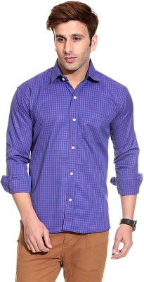 Pede Milan Men's Checkered Casual Blue Shirt