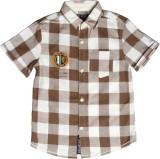XnY Boys Checkered Casual Brown, White S...