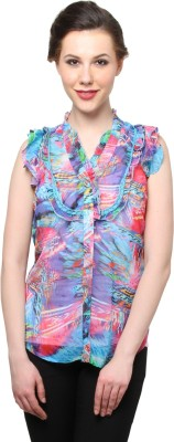 Moderno Women's Printed Casual Multicolor Shirt