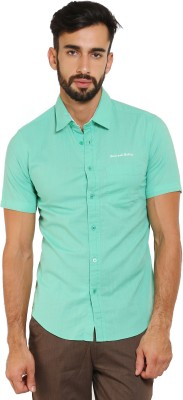 Classic Polo Men's Solid Casual Light Green Shirt