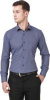 Cavana Formal Shirts (Men's) - CAVANA Men's Self Design Formal Blue Shirt